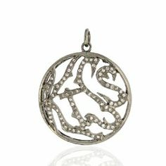 925 Sterling Silver Fashion Round Pendant Jewelry Socheec. $344.00. Round Silver Pendant. 0.42ct Pave Diamond Round Pendant. Fashion Round Pendant