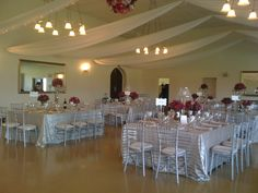 the venue with the fairy lights inside the draping Draping, Fairy Lights, Beautiful Day, Table Decorations, Chair, Wedding, Home Decor, Valentines Day Weddings, Decoration Home