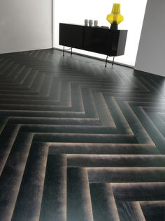 This new wood flooring is designed to have a gradient shadow