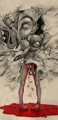 """Ilustrações e trabalhos tipográficos de Boris Pelcer""...endometriosis: yeah, it's kinda like that."