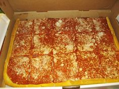 Tomato Pie from Napoli's Bakery (Utica NY) The midwest has NO IDEA what they are missing.