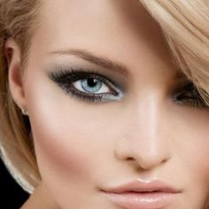 Grey colored eyeshadows are especially flattering to fair-skinned people with very light blue eyes. Shades with grey-blue undertones can be extremely flattering. A silvery-grey powder can also be used to emphasize eyes, especially when one wears the so-called 'smokey eye' look.