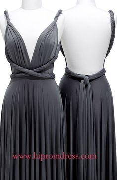 deep v column dress