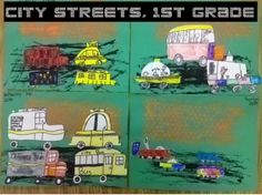 City streets, 1st grade - Mrs. Knights Smartest Artists