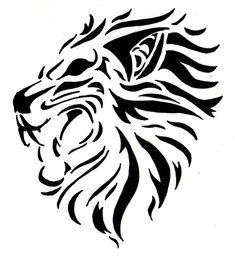 392f2e5b34305 23 Best Tribal Lion Tattoo images in 2014 | Tribal lion tattoo, Lion ...