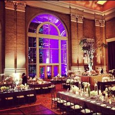 Room shot at Union Station in Dallas with @paigechenault. Floral by Jackson Durham #jacksondurham #unionstationdallas #recpetion #wedding