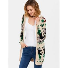 35.49$  Buy now - http://dig4g.justgood.pw/go.php?t=202968902 - Hooded Geometry Fleece Cardigan 35.49$