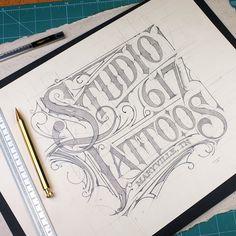 🇺🇸 | ✏️ #logo #tattoos #tennessee #usa #studio617 #maryville #typism #handmadefont #sketch #handletter #tattooed #liternictwo #sketch…