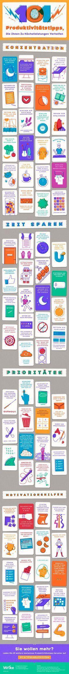 101 Produktivitätstipps, die Ihnen zu Höchstleistungen verhelfen (Infografik)
