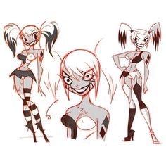 Harley concepts for Justice League: Gods and Monsters by Shane Glines regram @shaneglines via insomnesagresivos