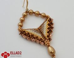 Tutorial Tara Earrings Beading tutorial Instant por Ellad2 en Etsy