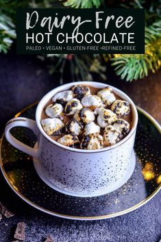 Ultra thick & creamy Dairy-Free Hot Chocolate recipe for serious chocolate lovers. Made from scratch & ready in 15 minutes! #homemade #hotchocolate #healthyrecipe #paleo #vegan #chocolate #winter #glutenfree #dairyfree Dairy Free Hot Chocolate, Paleo Chocolate, Hot Chocolate Recipes, Chocolate Lovers, Chocolate Desserts, Healthy Dessert Recipes, Smoothie Recipes, Drink Recipes, Cocktail Recipes