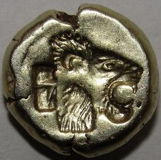 LION & RAM  Lesbos Mytilene Very rare Greek Gold Coin EL worth over $2.000 2.53g
