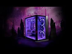 Custom PC Build by Ironside Computers. Custom Pc, Pc Cases, Gaming Computer, Computers, Smartphone, Tech, Neon Signs, Cards, Maps