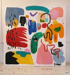 street art - The Colorful Shapes of Kindah Khalidy Design Milk — Design Milk Painting Inspiration, Art Inspo, Ouvrages D'art, Art Et Illustration, Watercolor Art, Design Art, Art Projects, Art Drawings, Contemporary Art