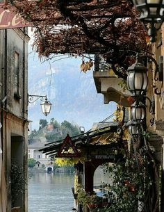 """beautifulworldbucketlist: """"visitheworld: """" Restaurant by the lake in Orta San Giulio / Italy (by nicoletta lindor). """" Check out Beautiful World Bucket List for more gorgeous places - Never Miss A Post! Places In Italy, Places To See, Beautiful Buildings, Beautiful Places, Amazing Places, Italian Lakes, Italy Holidays, Northern Italy, Italy Travel"""