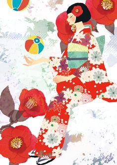 Asako Yoshihama #illustration #kimono