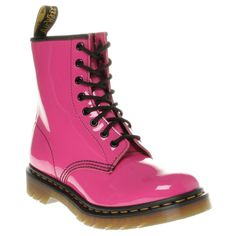 Dr Martens 1460 Boots, Hot Pink Patent Leather
