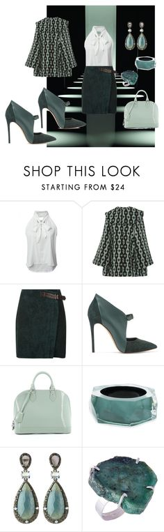 """""""Untitled #1818"""" by deirdre35 on Polyvore featuring WithChic, Emilia Wickstead, Reiss, Casadei, Louis Vuitton, Alexis Bittar and Bavna"""