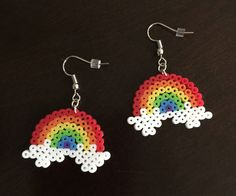A personal favorite from my Etsy shop https://www.etsy.com/listing/526356496/rainbow-perler-earrings