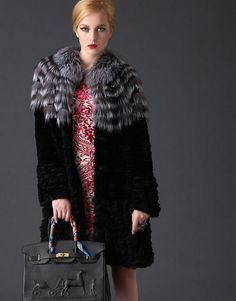 rabbit fur coat with mongolia sheep fur bottom .The price is $125