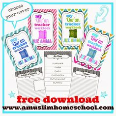 a muslim homeschool: Print at home your own Juz Amma workbook!