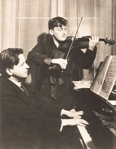 Breathtaking. Two greats: Georges Enesco and Yehudi Menuhin.