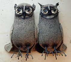 Textile owls by Mr Finch