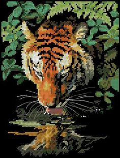 VK is the largest European social network with more than 100 million active users. Peler Beads, Embroidery Stitches Tutorial, Cross Stitch Pictures, Cross Stitch Animals, Plastic Canvas Patterns, Close Image, Cross Stitching, Mosaic, Painting