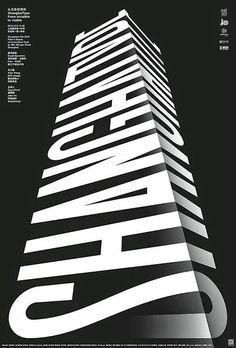 black and white graphic design poster typography ////graphic&illustration Graphisches Design, Typo Design, Graphic Design Posters, Graphic Design Typography, Lettering Design, Graphic Design Inspiration, 3d Typography, Japanese Typography, Blog Design