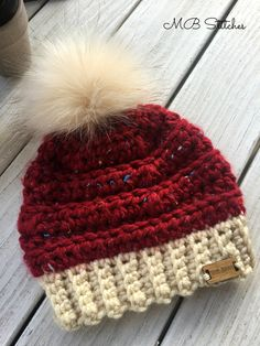 Collins Baby/Toddler Pom Pom Hat - MB Stitches Informations About Collins Baby/Toddler Pom Pom Hat - Crochet Toddler Hat, Chunky Crochet Hat, Crochet Hats For Boys, Crochet Baby Blanket Free Pattern, Crochet Winter Hats, Crochet Bebe, Baby Girl Crochet, Crochet Baby Hats, Chunky Yarn