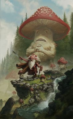 The toadstool troll has many friends in the forest some of them are small and some of them are ripped as hell.