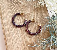 BohoKimono - Gemstone Jewellery, Boho Clothing   BohoKimono Etsy Earrings, Hoop Earrings, Boho Kimono, Burgundy Color, Boho Outfits, Gemstone Jewelry, Floral Design, Butterfly, Boho Clothing