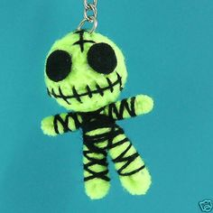 Lt.Green Ghost String Voodoo Doll Keyring Keychain Chain Handmade S-2 Inches