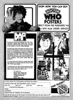 Doctor Who Posters Ad 1980 by combomphotos, via Flickr