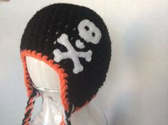 Halloween Crochet Baby Skull Hat by TweetBlossoms on Etsy