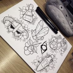 Skyrim tattoo flash available to tattoo! charlotteannharris96@gmail.com #skyrim…