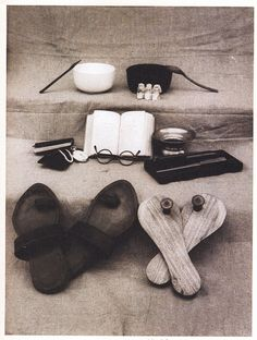 All of Gandhi's worldly possessions.