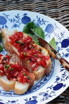 bruschetta tomaat & basilicum greendelicious