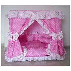 Sweet Princess Dog Cat handmade bed house Pink S,M