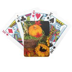 Fall Harvest Sunflowers Bicycle Card Decks
