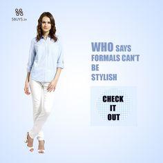 Regular button down #formal #shirt for #stylish #women..Check Now ! >>> http://www.sbuys.in/sbuys-regular-button-down-shirt-4185.html