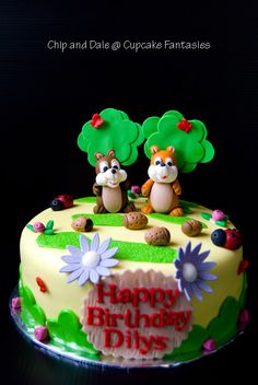 chip and dale cake - Google Search