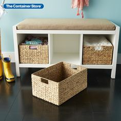 Beautifully constructed, our Water Hyacinth Bins offer an attractive option for storage of a variety of items around your home. Choose from several functional sizes of this popular woven basket. Constructed from water hyacinth (an easily-renewable resource) woven over a metal frame. Decor, Personal Organization, Beach House Storage, Shelves, Storage, Linen Closet, Storage Bins, Fabric Storage, Entryway Organization