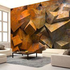 """Fotomural """"Baile de las piedras"""" es perfecto para un salón minimalista con los sofas grandes y pocos muebles de los colores claros"""