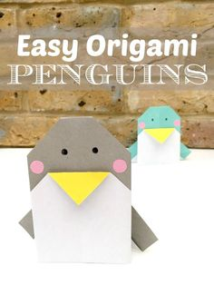Red Ted Art's Adorable Easy Origami Penguins. Not only are these CUTE Penguin Decorations, but you can actually use them as Penguin Greeting Cards too! Yes, they are perfect for writing on and posting to love ones this holiday season. Wonderful and easy Penguin Origami card DIY