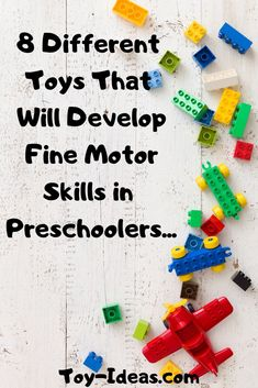 Learn about 8 different types of toys that will promote fine motor skills in preschoolers. #finemotor #kidstoys #toyideas #childdevelopment #playbasedlearning #montessori #montessoriactivities #earlychildhoodeducation #earlylearning #childhoodunplugged