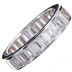 VAN CLEEF & ARPELS Diamond Baguette Eternity Band   From a unique collection of vintage wedding rings at http://www.1stdibs.com/jewelry/rings/wedding-rings/