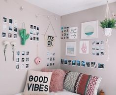Getting good vibes?  We love the throw pillows and the hanging fake thorny cactus  #homedecor #interior #homefurnishing