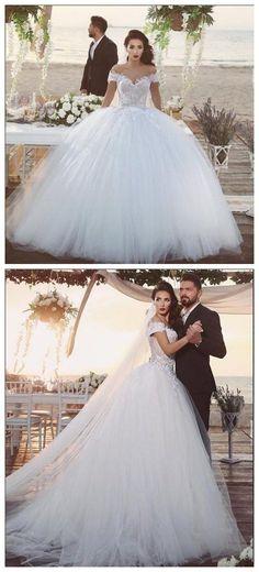 White Wedding Dresses2016 Wedding GownLace Wedding GownsLace Bridal DressBac